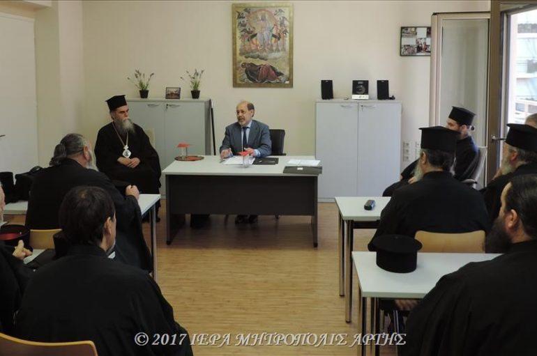 Σεμινάριο επιμόρφωσης κληρικών της Ι. Μητροπόλεως Άρτης (ΦΩΤΟ)