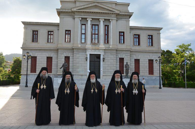 Πολυαρχιερατικός Εσπερινός για τους Πολιούχους της Τρίπολης (ΦΩΤΟ)