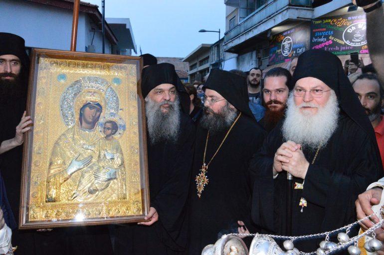 Υποδοχή της Παναγίας Βηματάρισσας στην Ι. Μ. Λεμεσού (ΦΩΤΟ)