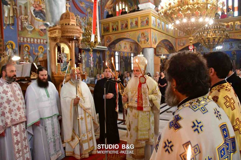 Η εορτή της Αγίας Ειρήνης στην Ι. Μ. Αργολίδος (ΦΩΤΟ-ΒΙΝΤΕΟ)