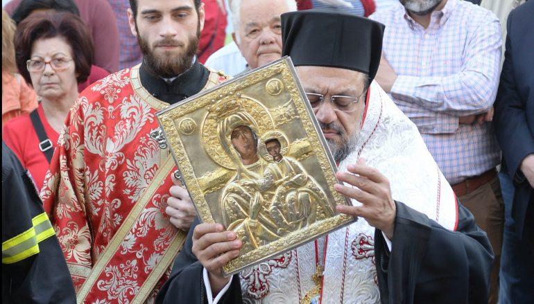 Πάνδημη υποδοχή της Παναγίας Βουλκανιώτισσας στην Καλαμάτα (ΦΩΤΟ-ΒΙΝΤΕΟ)