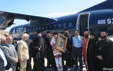 Αναχώρησε η εικόνα της Παναγίας Σουμελά από την Σύρο (ΦΩΤΟ)