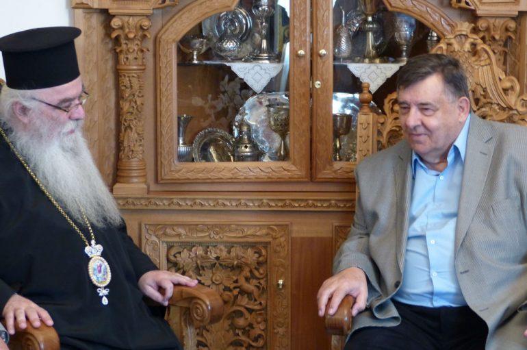 Ο Πρόεδρος του ΛΑ.ΟΣ στον Μητροπολίτη Καστορίας (ΦΩΤΟ)