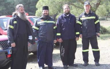 Ιερείς της Λέσβου….εθελοντές πυροσβέστες