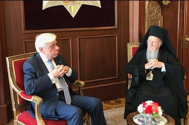 Στον Οικ. Πατριάρχη ο Πρόεδρος της Ελληνικής Δημοκρατίας (ΦΩΤΟ – ΒΙΝΤΕΟ)