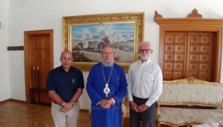 Στον Αρχιεπίσκοπο Κύπρου ο Δρ. Θεοχάρης Δαυίδ