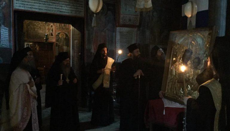 Εικόνα της Παναγίας «Ιεροσολυμίτισσας» στην Ιερά Μονή Δουσίκου (ΦΩΤΟ)