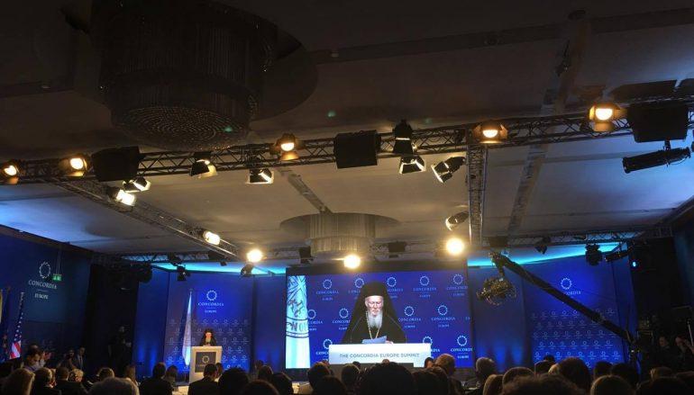Ο Οικ. Πατριάρχης στην Διεθνή Διάσκεψη Concordia Europe Summit στην Αθήνα (ΦΩΤΟ)