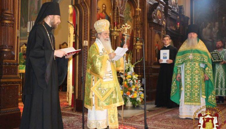 Η εορτή του Αγίου Πνεύματος στο Πατριαρχείο Ιεροσολύμων (ΦΩΤΟ – ΒΙΝΤΕΟ)