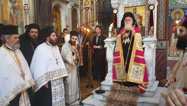 Στον Πολιούχο της Λάρισας Άγιο Αχίλλιο ο Αλβανίας Αναστάσιος (ΦΩΤΟ)