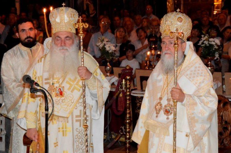 Υποδοχή Λειψάνων των Αγίων Λεωνίδου και των επτά Αγ. Γυναικών στην Κόρινθο