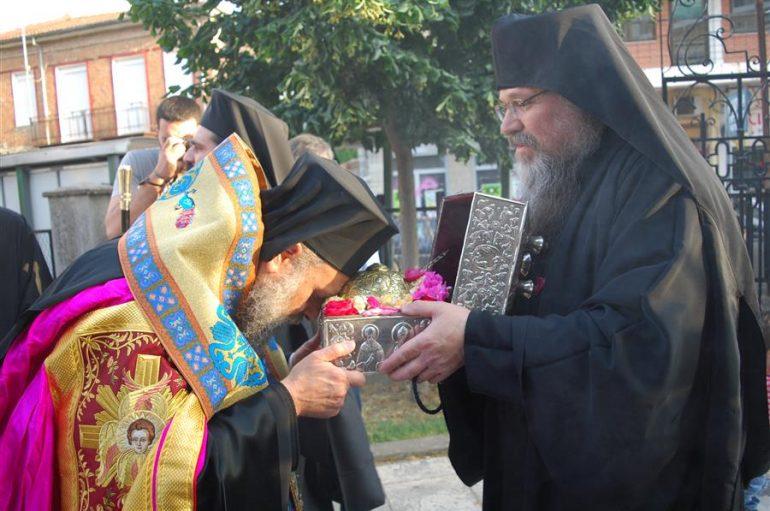 Η Καρδίτσα υποδέχθηκε την κάρα του Αγίου Δαυίδ του εν Ευβοία (ΦΩΤΟ)