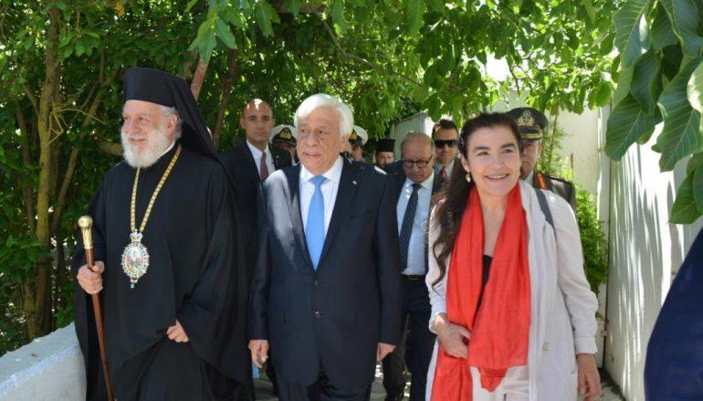 Ο Πρόεδρος της Δημοκρατίας στην Ιερά Νήσο Τήνο (ΦΩΤΟ)