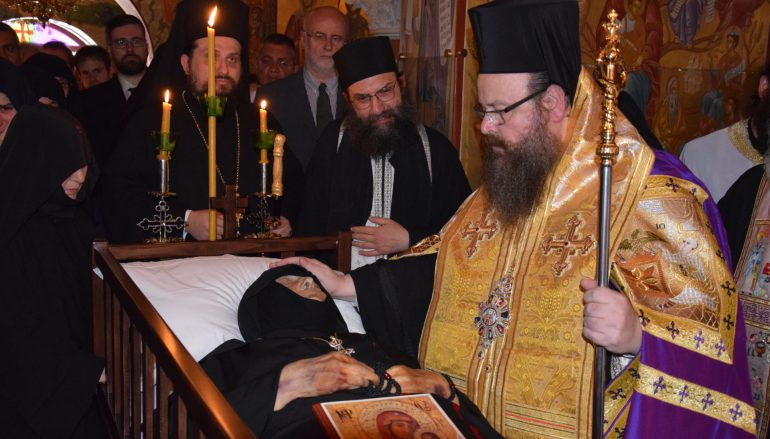 Η Εξόδιος Ακολουθία της Καθηγουμένης της Ι. Μ. Παναγίας Γοργοεπηκόου Μάνδρας (ΦΩΤΟ)