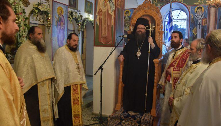 Εσπερινός της Αγίας Τριάδος στην Σαλαμίνα (ΦΩΤΟ)