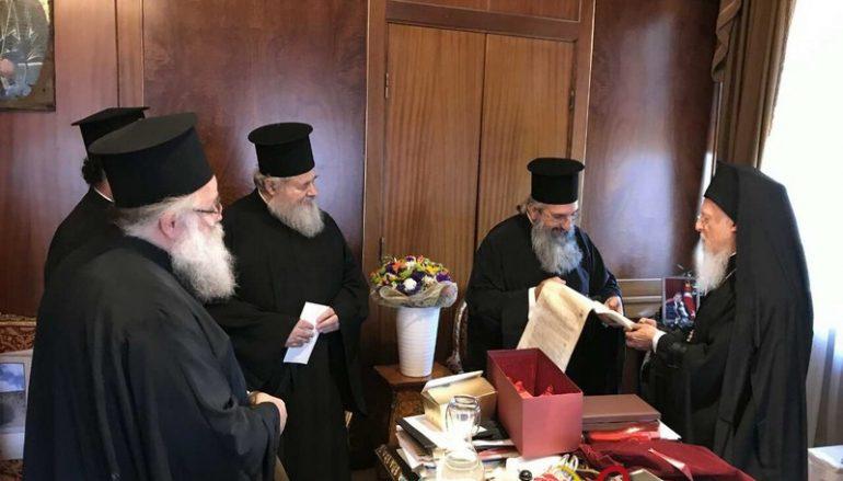 Αντιπροσωπεία της Εκκλησίας της Κρήτης στα ονομαστήρια του Πατριάρχη (ΦΩΤΟ)