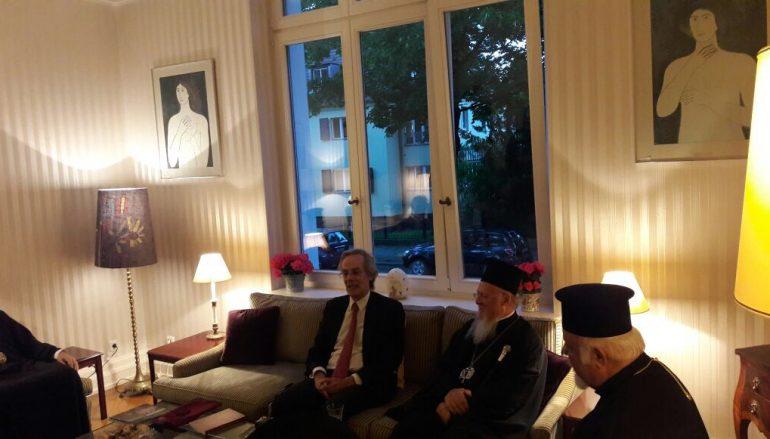 Ο Οικ. Πατριάρχης επισκέφθηκε τον Έλληνα Πρέσβη στο Βερολίνο
