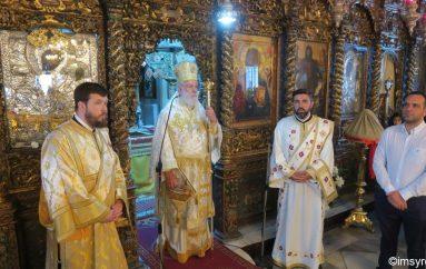 Ο Μητροπολίτης Σύρου στην Ι. Μονή Παναγίας Τουρλιανής (ΦΩΤΟ)