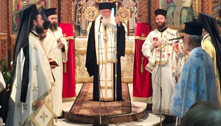 Ο Αρχιεπίσκοπος Ιερώνυμος στα Ψαχνά Ευβοίας (ΦΩΤΟ)