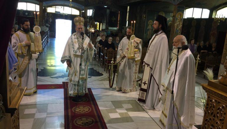 Η εορτή της Πεντηκοστής στην Ι. Μ. Χαλκίδος (ΦΩΤΟ)