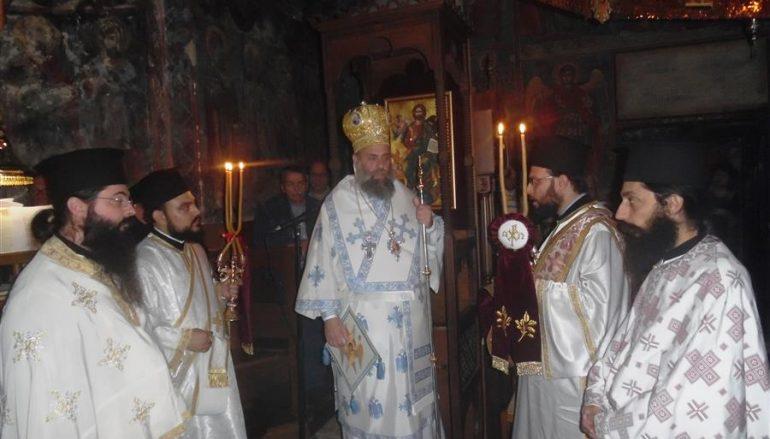Αγρυπνία για την Παναγία Οδηγήτρια στην Ι. Μ. Αγίας Τριάδος Δρακότρυπας (ΦΩΤΟ)