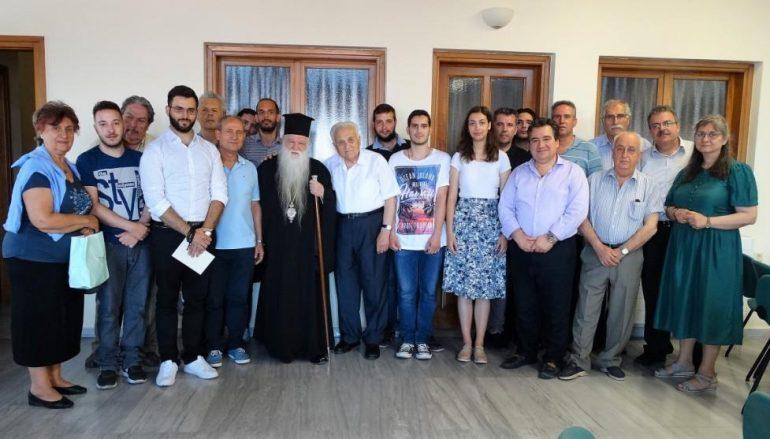 Ο Μητροπολίτης Καλαβρύτων τίμησε τον Μουσουργό Διαμαντή Μαυραγάνη