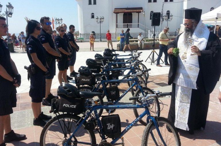 Ο Μητροπολίτης Κίτρους ευλόγησε ποδηλάτες-αστυνομικούς (ΦΩΤΟ)