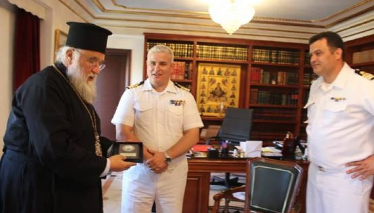 Επίσκεψη του νέου Διοικητή του ΝΑΣΚΕ στο Μητροπολίτη Κερκύρας (ΦΩΤΟ)