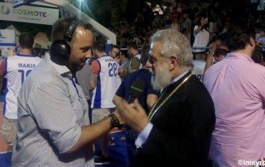 Ο Μητροπολίτης Σύρου στους τελικούς αγώνες της LG AEGEAN BALL FESTIVAL