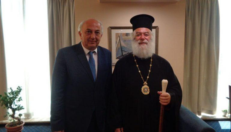 Επίσκεψη του Πατριάρχη Αλεξανδρείας στον Υφυπουργό Εξωτερικών
