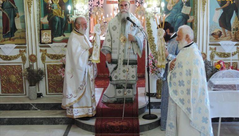 Αρχιερατική Θ. Λειτουργία στην Ενορία Προφήτη Ηλία Γραικικού Άρτης (ΦΩΤΟ)