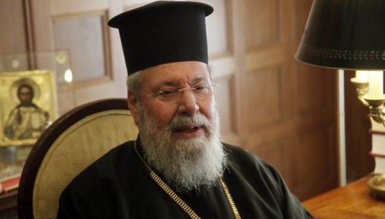 Συνέντευξη Αρχιεπισκόπου Κύπρου πριν τη σύσκεψη για το Κυπριακό