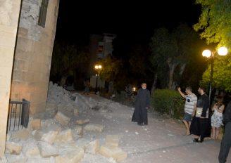 Σοβαρές ζημιές στο Μητροπολιτικό Ναό της Κω απο το σεισμό (ΦΩΤΟ)