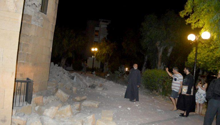 Σοβαρές ζημιές στο Μητροπολιτικό Ναό της Κω από το σεισμό (ΦΩΤΟ)