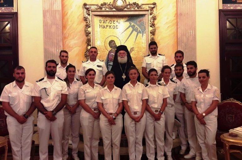 Στον Πατριάρχη Αλεξανδρείας αξιωματικοί του Πολεμικού Ναυτικού (ΦΩΤΟ)