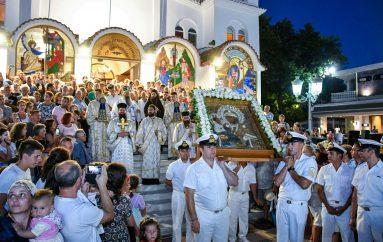 Υποδοχή της Παναγίας Τριχερούσας στην Παραλία Κατερίνης (ΦΩΤΟ)