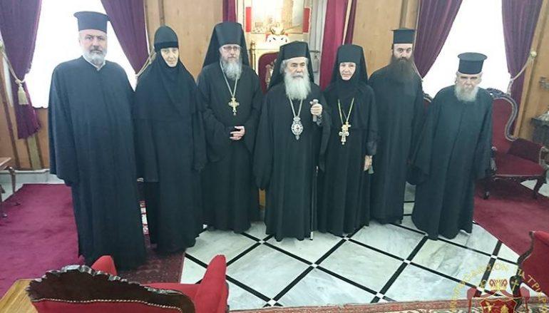 Η νέα Ηγουμένη της Ι. Μονής Ελαιώνος στον Πατριάρχη Ιεροσολύμων (ΦΩΤΟ)