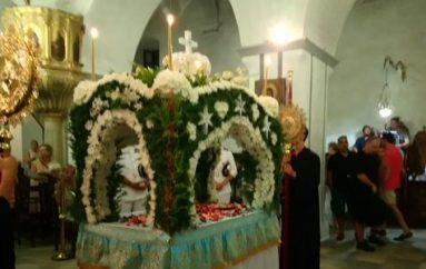 Σε κλίμα κατάνυξης ο εορτασμός της Παναγίας στην  Μονεμβασία (ΦΩΤΟ)