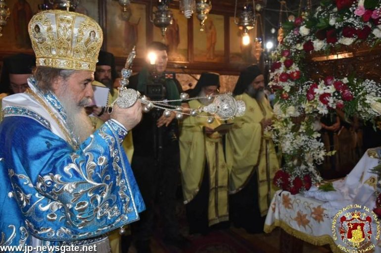 Τα εγκώμια της Κοιμήσεως της Θεοτόκου στο Πατριαρχείο Ιεροσολύμων (ΦΩΤΟ)