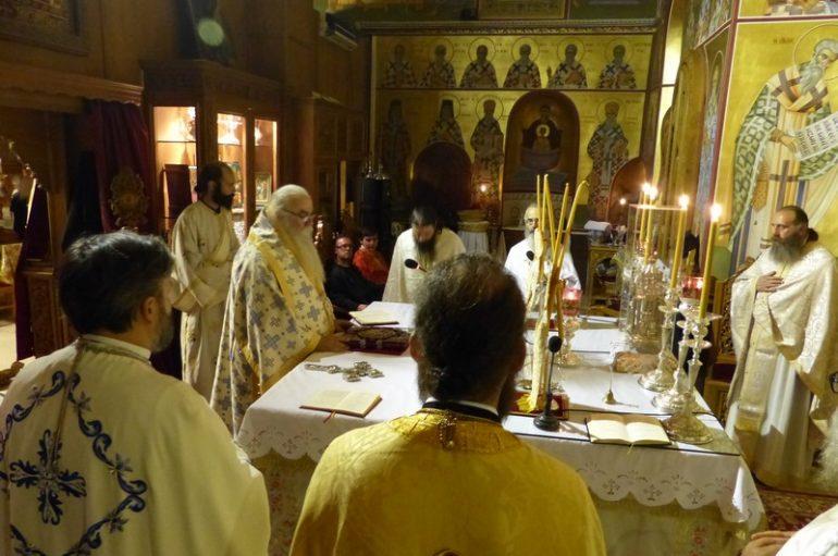 Προεόρτια Ιερά Αγρυπνία στον Μητροπολιτικό Ναό Καστορίας (ΦΩΤΟ)