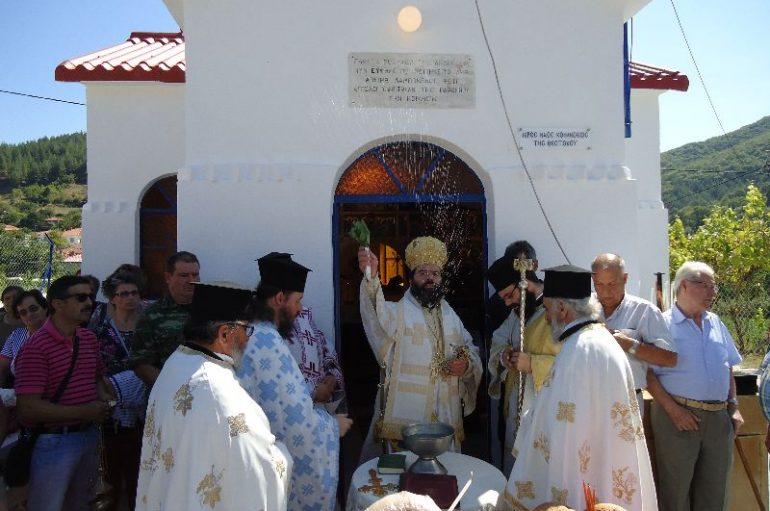 Ο Μητροπολίτης Μαρωνείας στον Οικισμό της Οργάνης (ΦΩΤΟ)