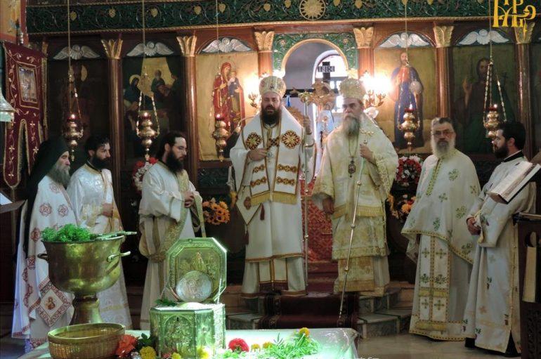 Αρχιερατικό συλλείτουργο για τον Άγιο Βησσαρίωνα στις Πηγές Άρτης (ΦΩΤΟ)