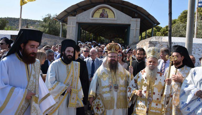Θεία Λειτουργία και Λιτανεία στην Ι. Μονή Παναγίας Φανερωμένης Σαλαμίνος (ΦΩΤΟ)
