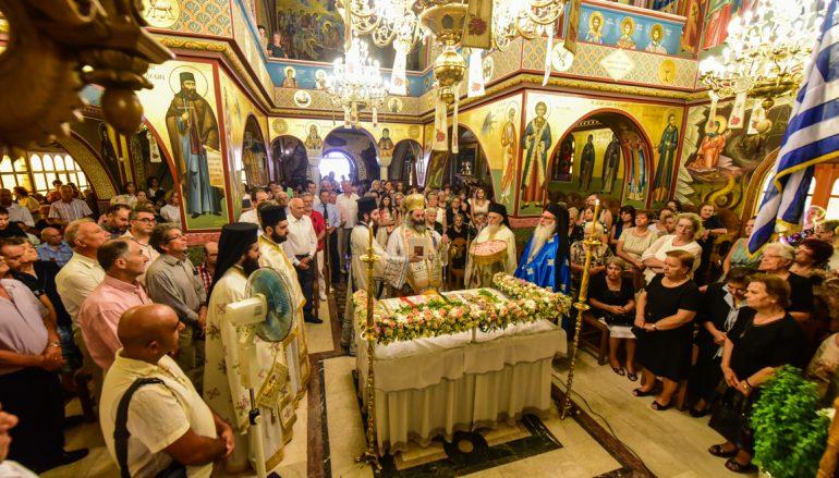 Η εορτή της Κοιμήσεως της Θεοτόκου στην Ι. Μ. Λαγκαδά (ΦΩΤΟ)