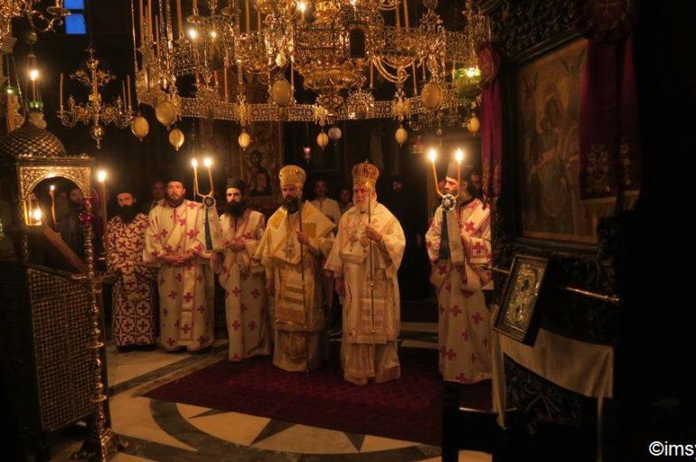 Δισαρχιερατικό Συλλείτουργο στην Ιερά Μονή Παντοκράτορος (ΦΩΤΟ)