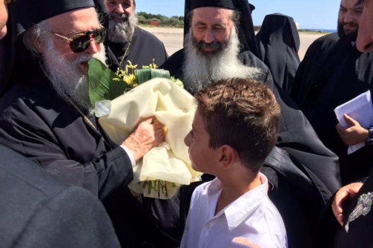 Θερμή υποδοχή του Αρχιεπισκόπου Αλβανίας στην Κεφαλλονιά (ΦΩΤΟ)