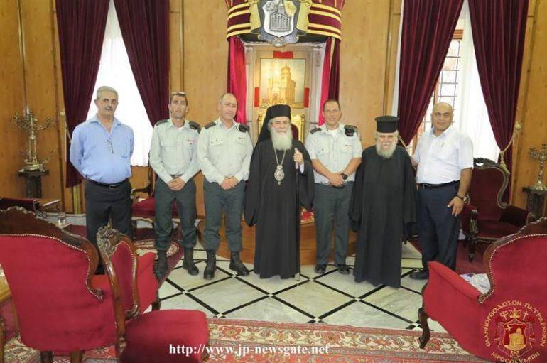 Η Ισραηλινή Στρατιωτική Διοίκηση στον Πατριάρχη Ιεροσολύμων (ΦΩΤΟ)