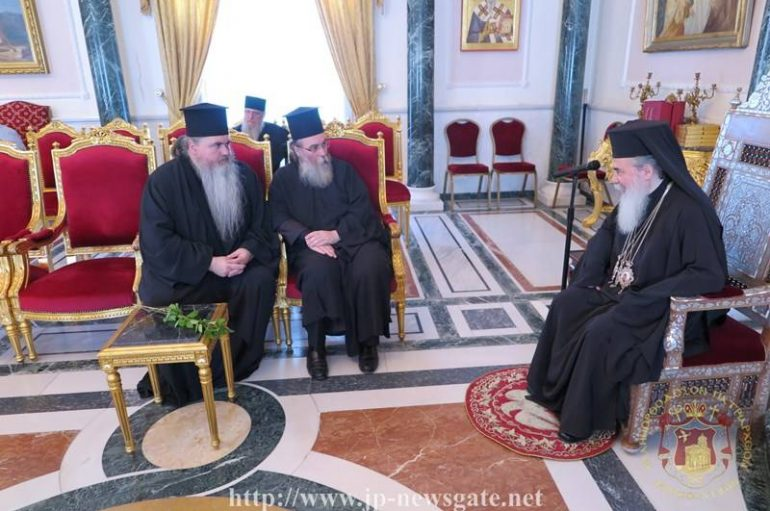 Οι Μητροπολίτες Κισάμου και Καλαμαριάς στον Πατριάρχη Ιεροσολύμων (ΒΙΝΤΕΟ)
