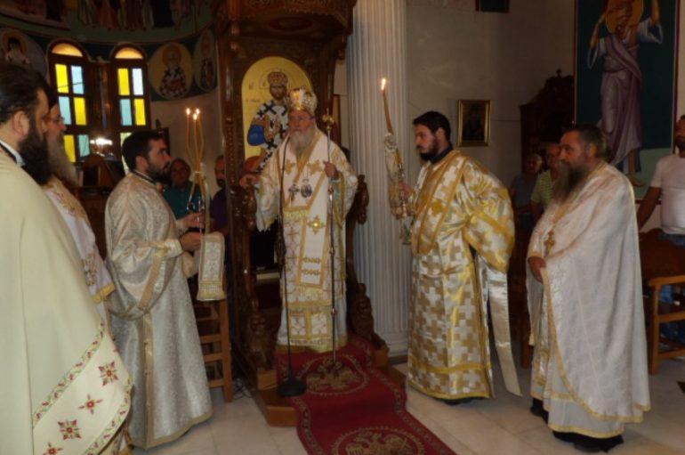 Αρχιερατική Θ. Λειτουργία στην Ι. Μ. «Παναγία Πάντων Χαρά» Καλεντζίου (ΦΩΤΟ)