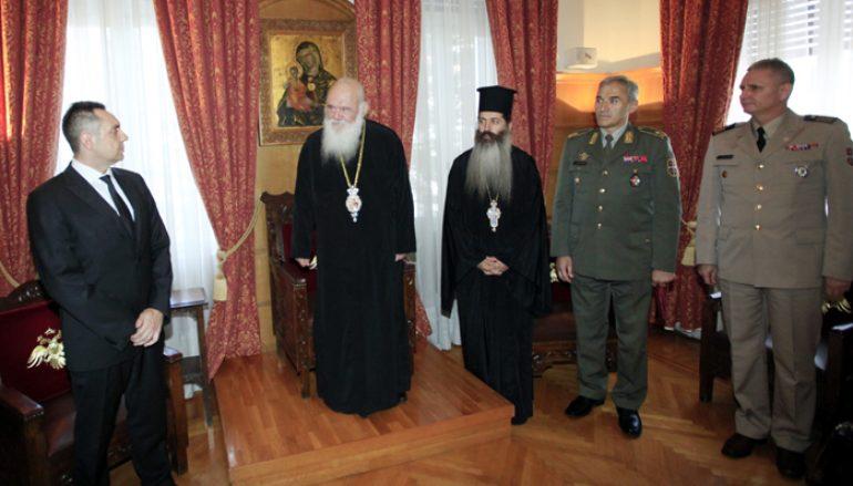 Συνάντηση Αρχιεπισκόπου με τον Υπουργό Άμυνας της Σερβίας (ΦΩΤΟ)